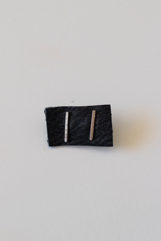 Sterling Silver Hammered Rectangle Stud Earrings