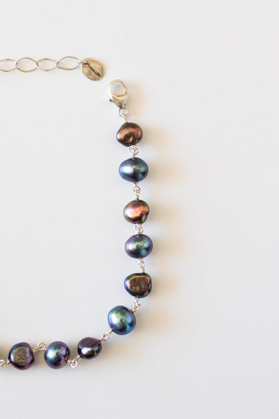 Peacock Pearl Anklet