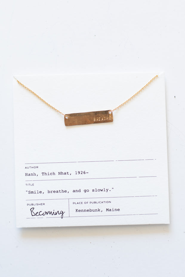 Breathe Gold Necklace