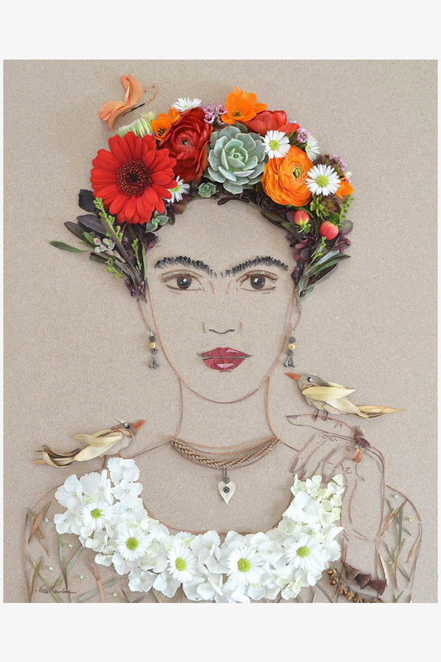 Feathered Friends Frida Flower Print