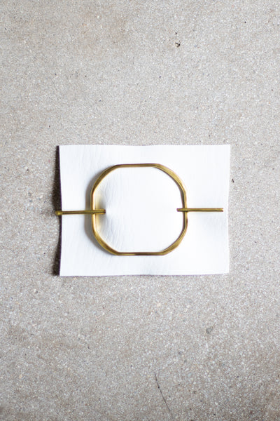 Brass Square Hair Slides