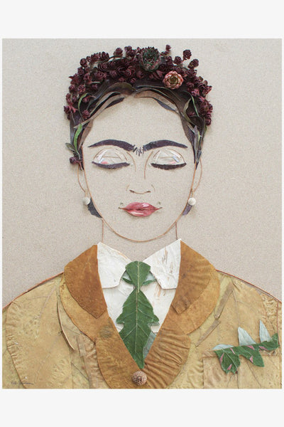 The Future is Female Frida Flower Print