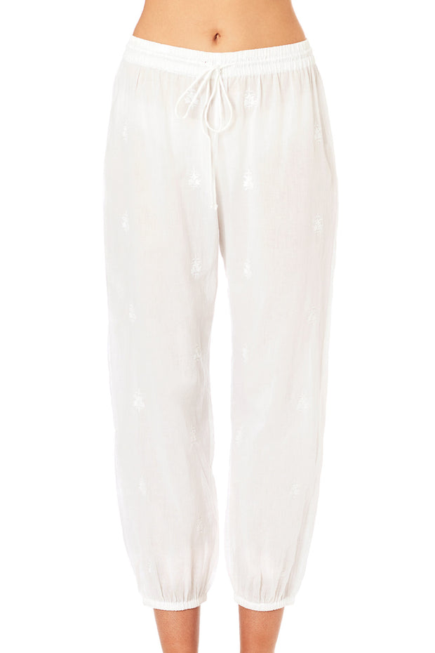 Arya Embroidered Pajama Bottoms