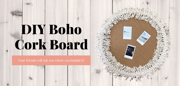 DIY Boho Cork Board