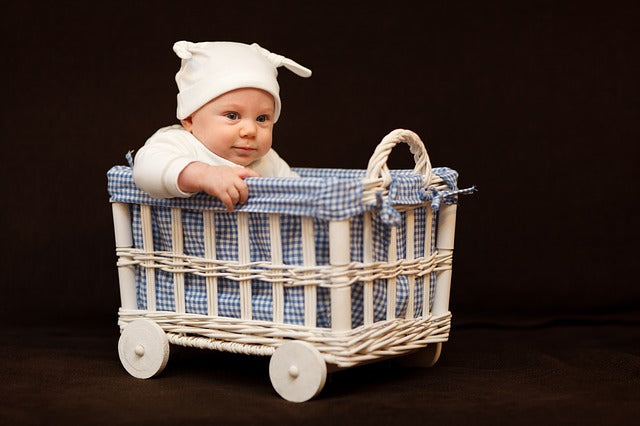 Fun Baby Carriage Basket- Wicker Projct Ideas