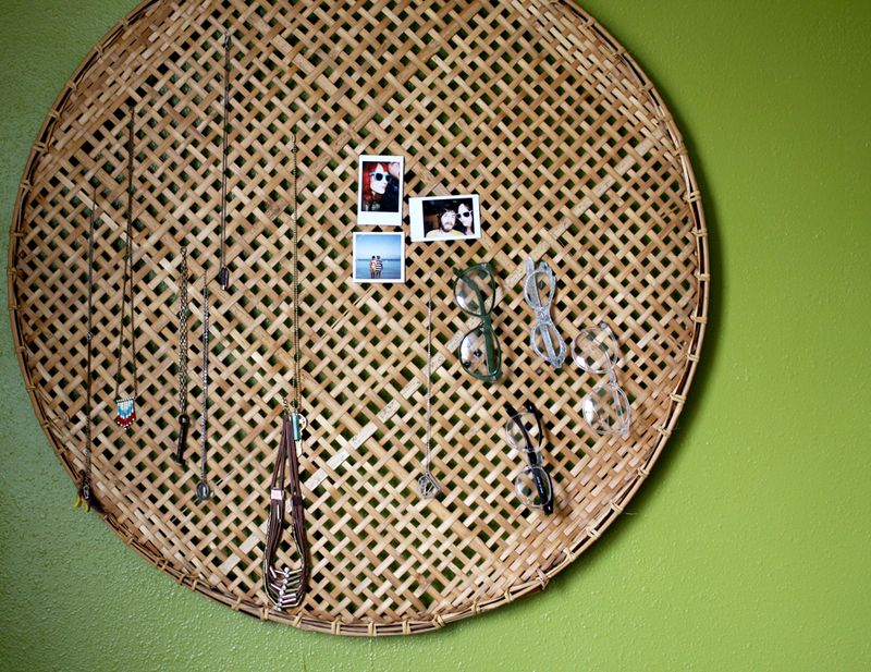 Hold Anything Wall Display - Wicker Basket Project Ideas