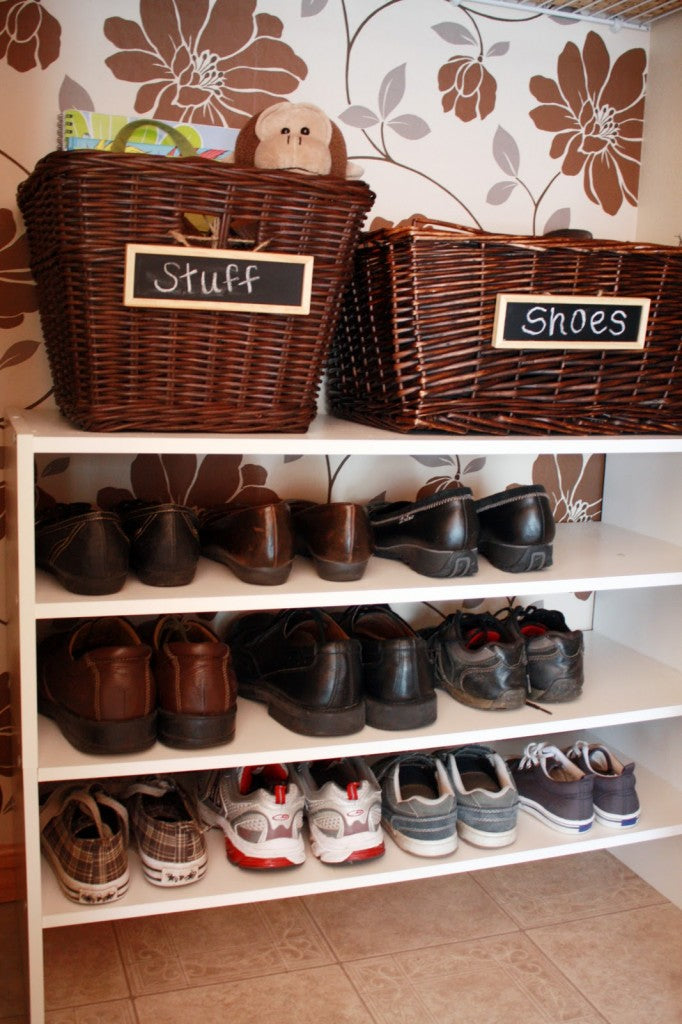 Home Wicker Storage Solutions Shoe Closet Baskets