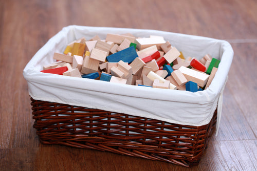 Organized Blocks and Toys Home Wicker Storage Solutions