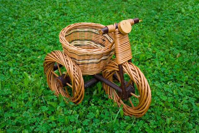 Wicker Project Ideas Bicycle Flower Container