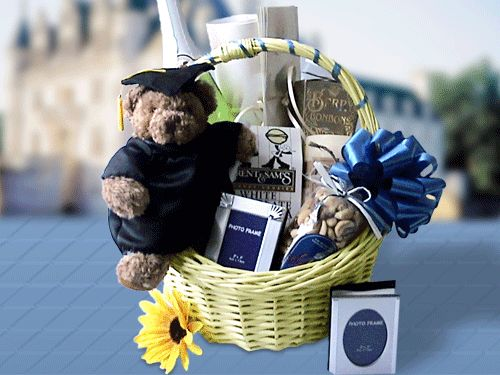 The Graduation Pièce de Résistance was the Gift Basket