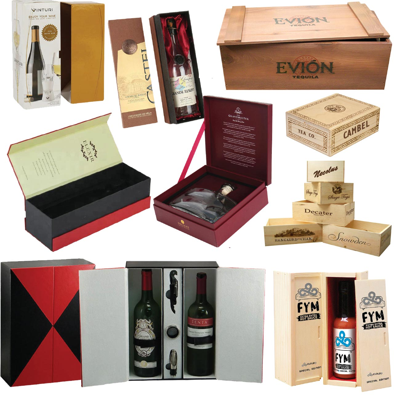 Wald Imports Special Order Wine and Spirits Boxes