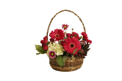 "10"" Round Rustic Basket with Handle-Wald Imports"