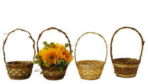 "6"" Rustic Basket Assortment-Wald Imports"