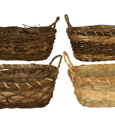 "Rustic Double 4"" Planter Basket Assortment-Wald Imports"