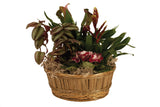 "10"" Dark Stained Bamboo Basket Bowl-Wald Imports"