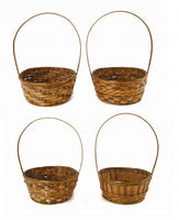 "8"" Dark Stained Bamboo Basket-Wald Imports"