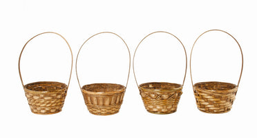 "6"" Dark Stained Bamboo Basket-Wald Imports"