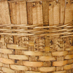 "7"" Dark Stained Bamboo Basket Planter-Wald Imports"