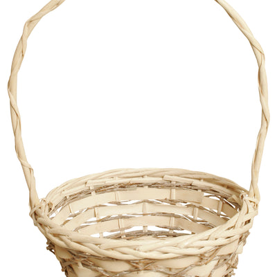 "10"" Woodchip, Willow & Vine Basket Planter-Wald Imports"