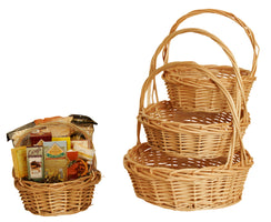 Set of 4 Natural Willow Baskets-Wald Imports