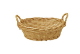 "12"" Bleached Willow Basket-Wald Imports"