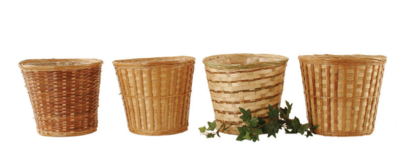 "10"" Bamboo Planter Basket Assortment-Wald Imports"