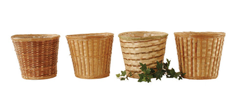 "10"" Bamboo Planter Basket Assortment"