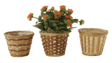 "4.5"" Bamboo Planter Basket Assortment-Wald Imports"