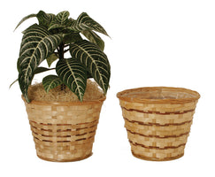 "7"" Bamboo Planter Basket Assortment-Wald Imports"