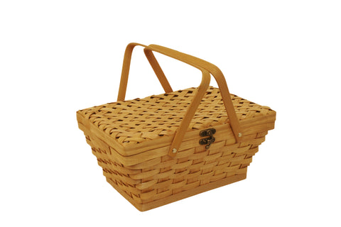 "14"" Woodchip Picnic Basket"
