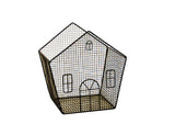 "8"" Black Metal Wire House-Wald Imports"