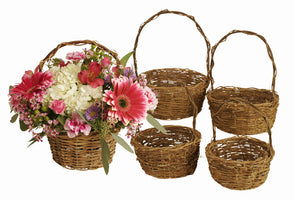 Set of 5 Willow/Rattan Baskets-Wald Imports