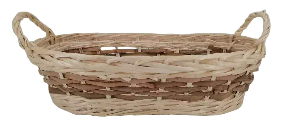 "17.5"" Oval Willow Basket"