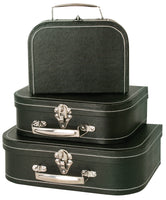 Suitcase Set of 3 Textured Paperboard-Wald Imports