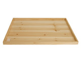 "30"" Rectangular Wood Tray"