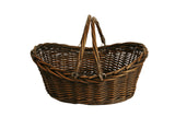 "17"" Brown Willow Basket w/ Handles-Wald Imports"