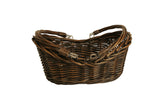 "13.5"" Brown Willow Basket-Wald Imports"