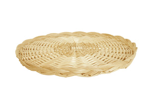 "14"" Round Wicker Tray Basket-Wald Imports"