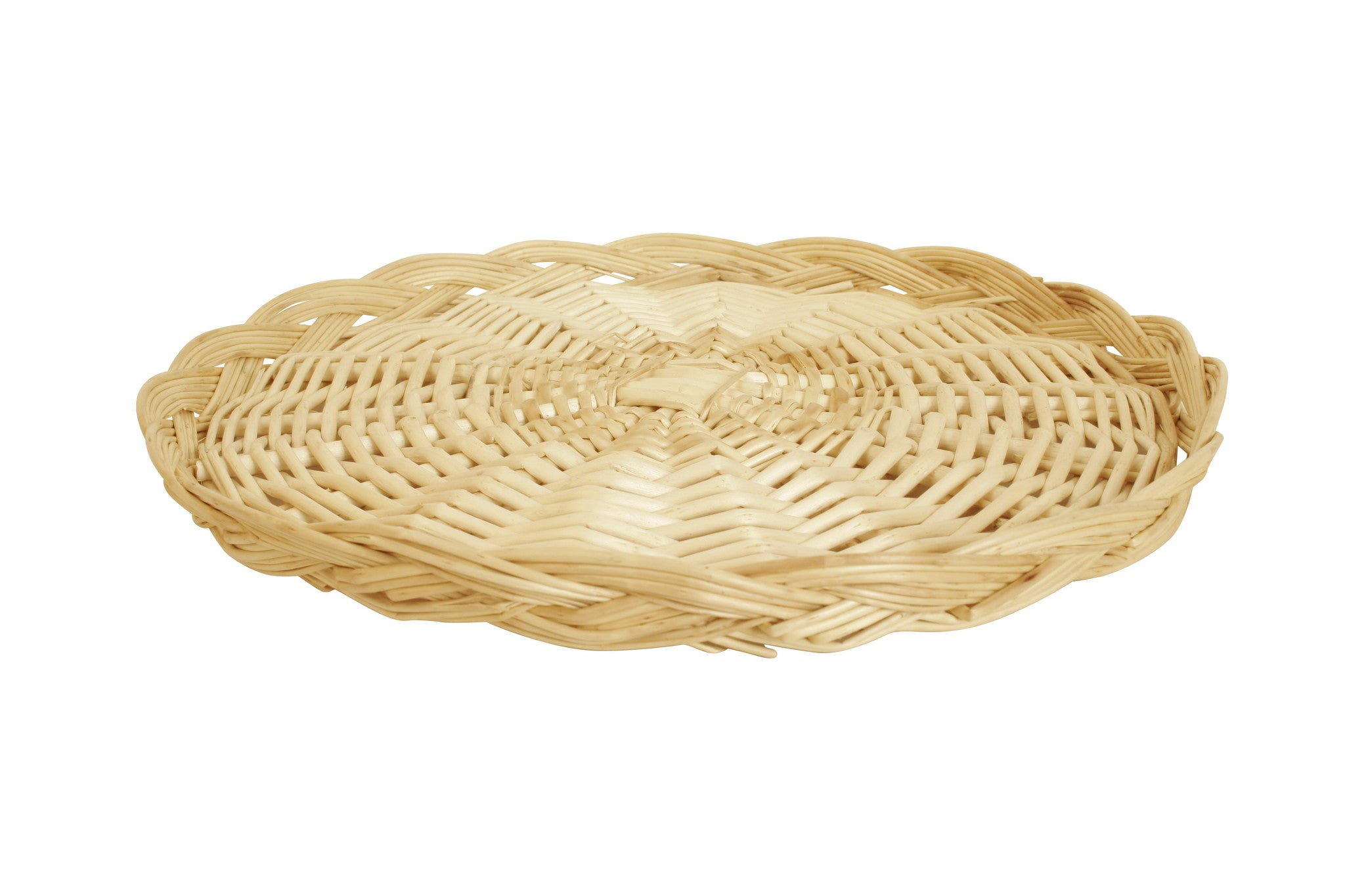 "16"" Round Wicker Tray Basket-Wald Imports"