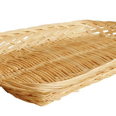 "12"" Rectangular Wicker Tray Basket-Wald Imports"