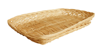 "14"" Rectangular Wicker Tray Basket-Wald Imports"