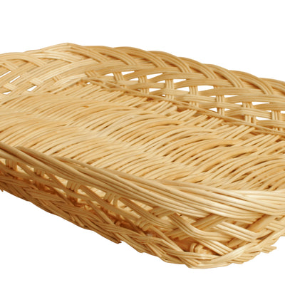 "16"" Rectangular Wicker Tray Basket-Wald Imports"