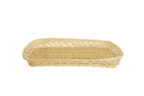 "12"" Rectangular Wicker Tray Basket"