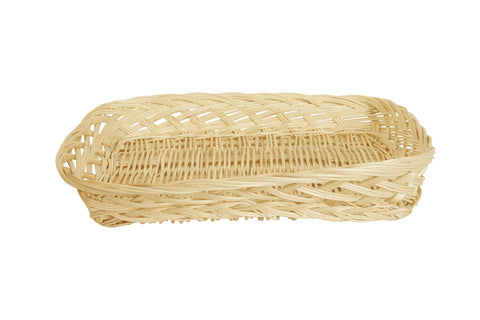 "16"" Rectangular Wicker Tray Basket"