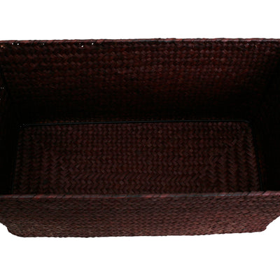 "13"" Espresso Seagrass-Reed Basket-Wald Imports"