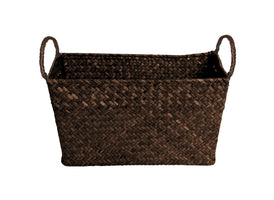 "9"" Espresso Seagrass-Reed Basket-Wald Imports"