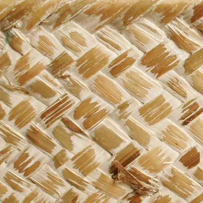 "9"" Whitewash Seagrass-Reed Basket-Wald Imports"