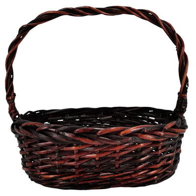 "10"" Oval Dark Willow Basket"
