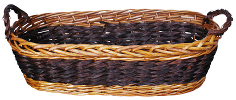 "22"" Willow & Seagrass Basket-Wald Imports"