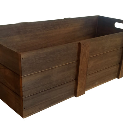 "22"" Rustic Farmhouse Wood Crate-Wald Imports"